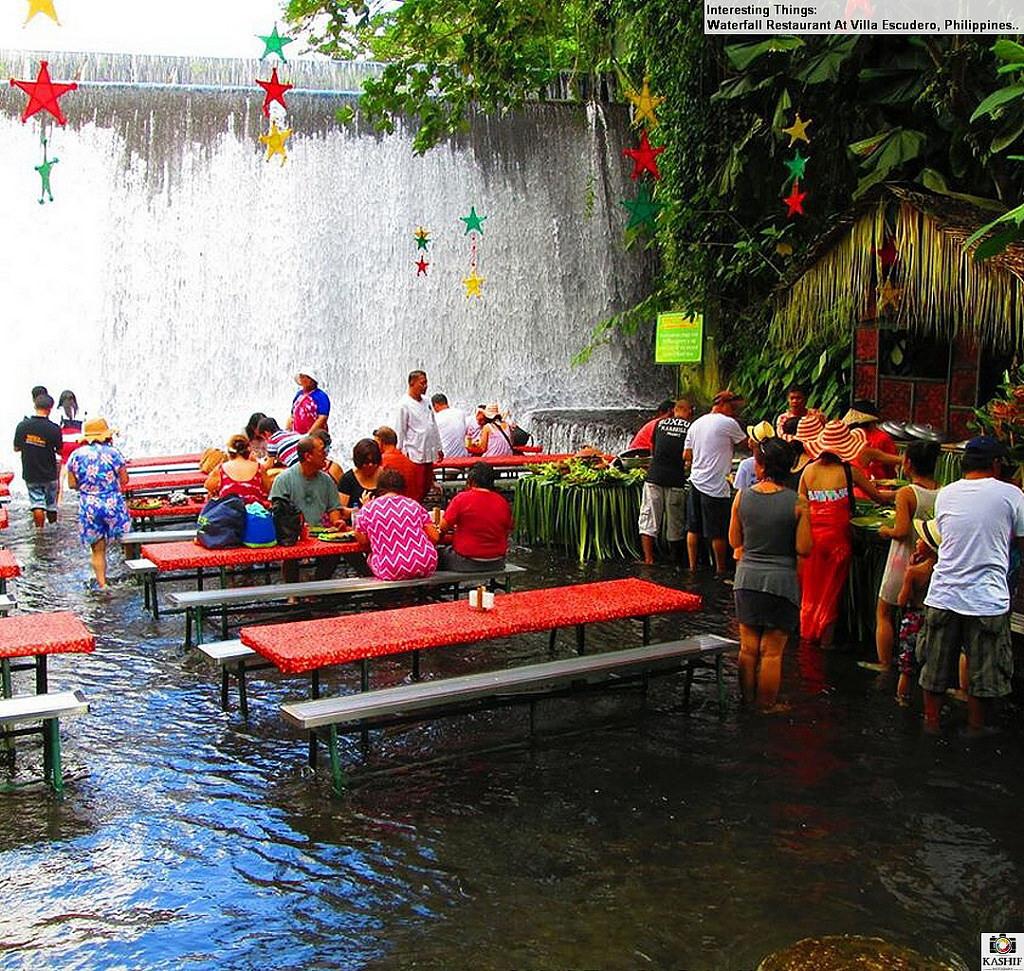 Villa Escudero Philippines Villa Escudero Waterfall Restaurant Day Tourkkday