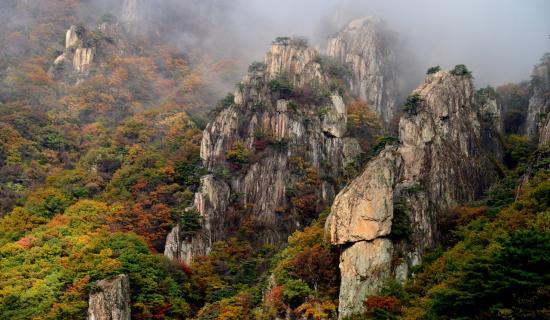 Mùa thu Hàn Quốc tại núi Daedunsan