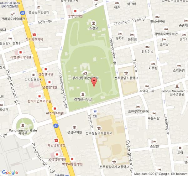 Jeonju Hanok Village Day Tour KKday - Jeongju map