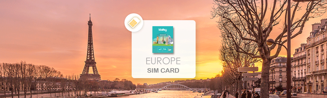 France Europe Prepaid 28-Day 6GB SIM Card (Pick-Up at Taiwan Taoyuan  International Airport)