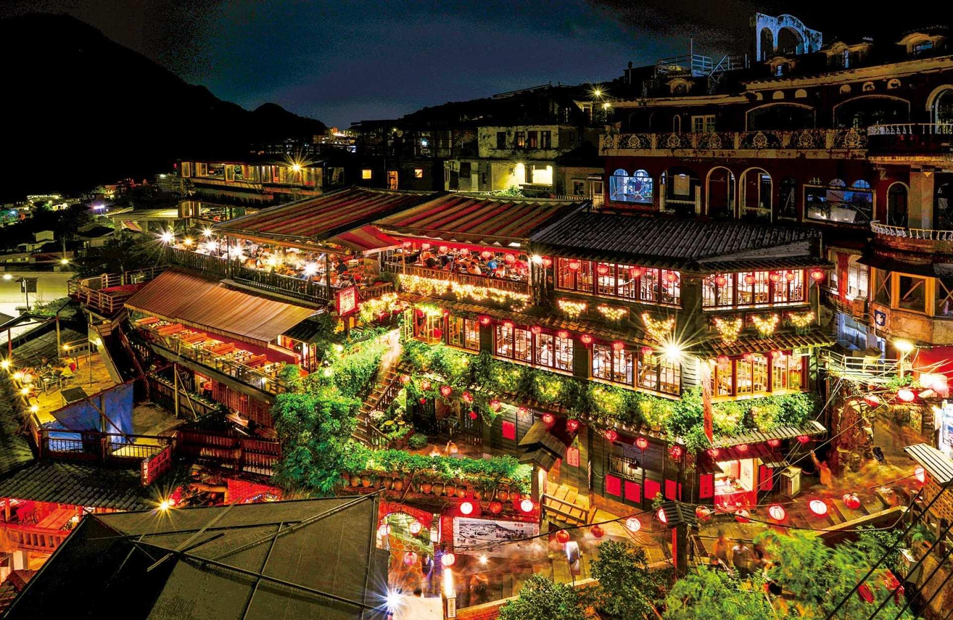 おうちで台湾|夜の九份観光・オンラインツアー|基山街+豎崎路+お茶試飲見学|Zoom利用