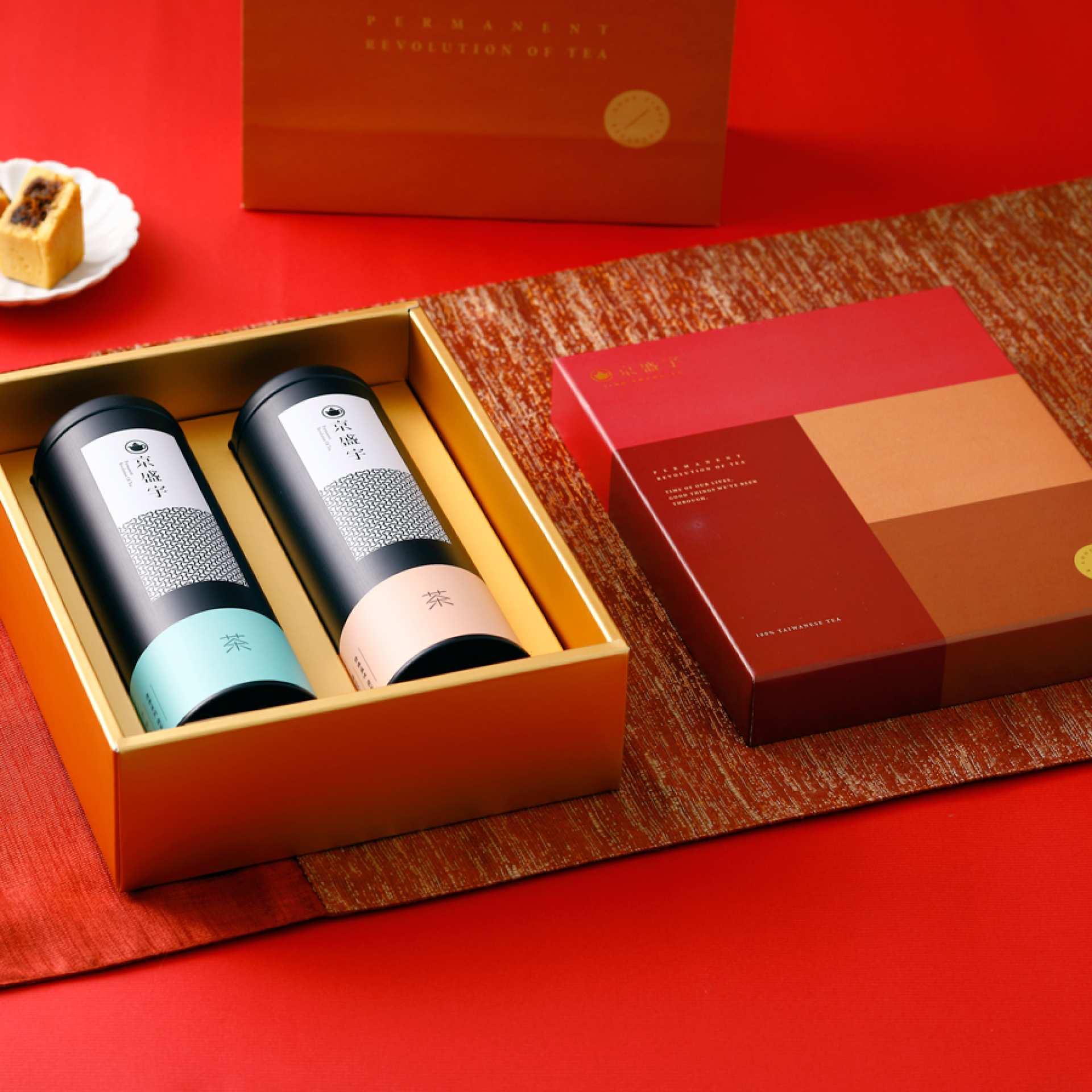 【2021新春限定】京盛宇|台湾茶ギフトボックス・金喜相聚禮盒|おうちで台湾