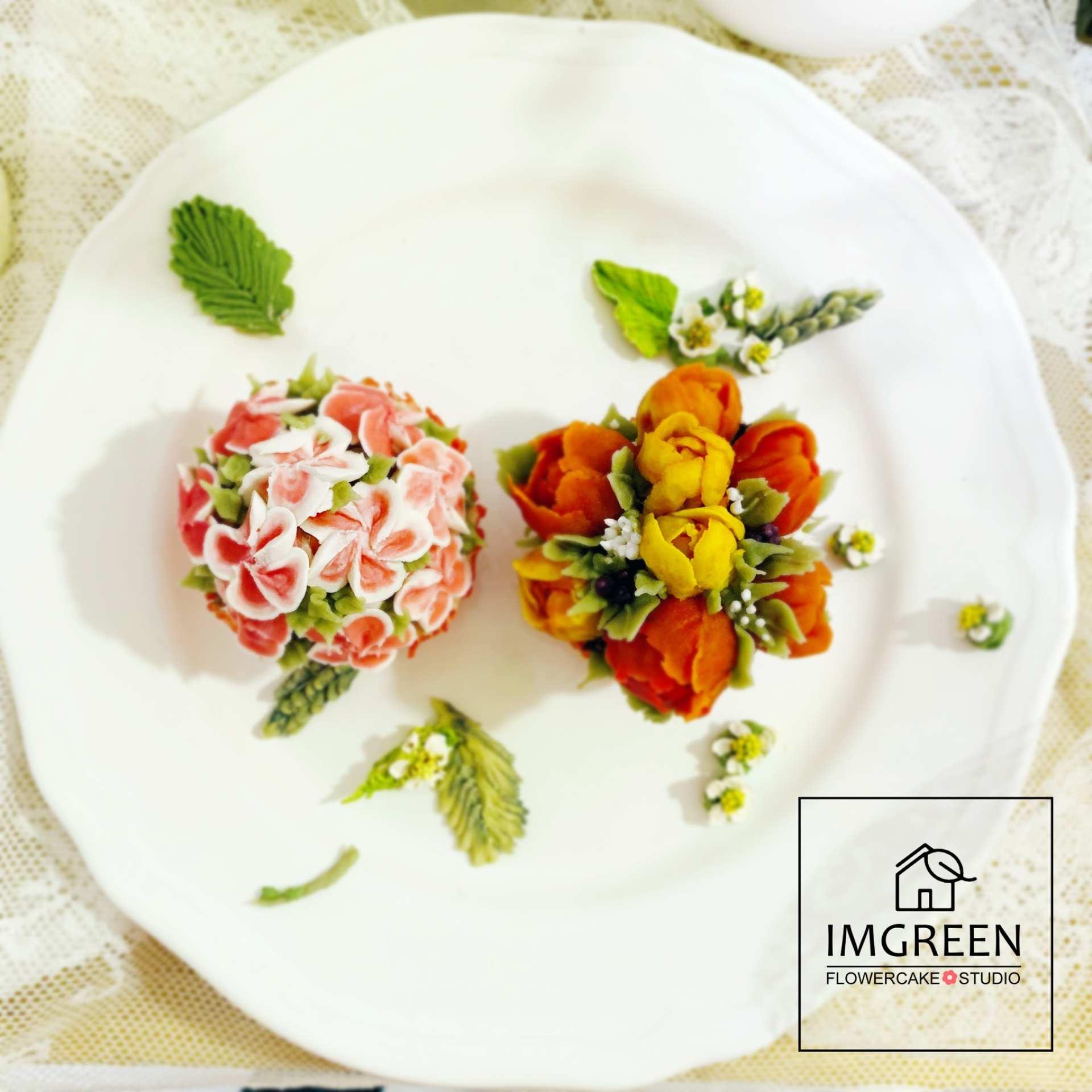 【ソウル・城北洞】フラワーカップケーキ手作り体験(英語レッスン)