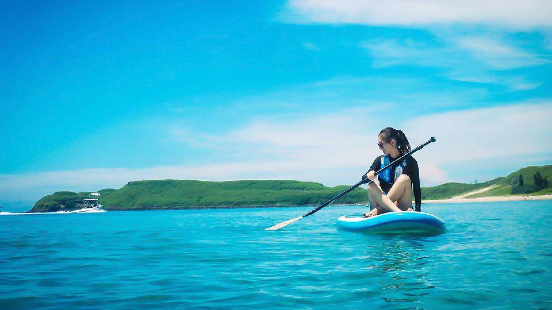 【日本語OK!】台湾・澎湖:SUP(スタンド・アップ・パドルボード)体験