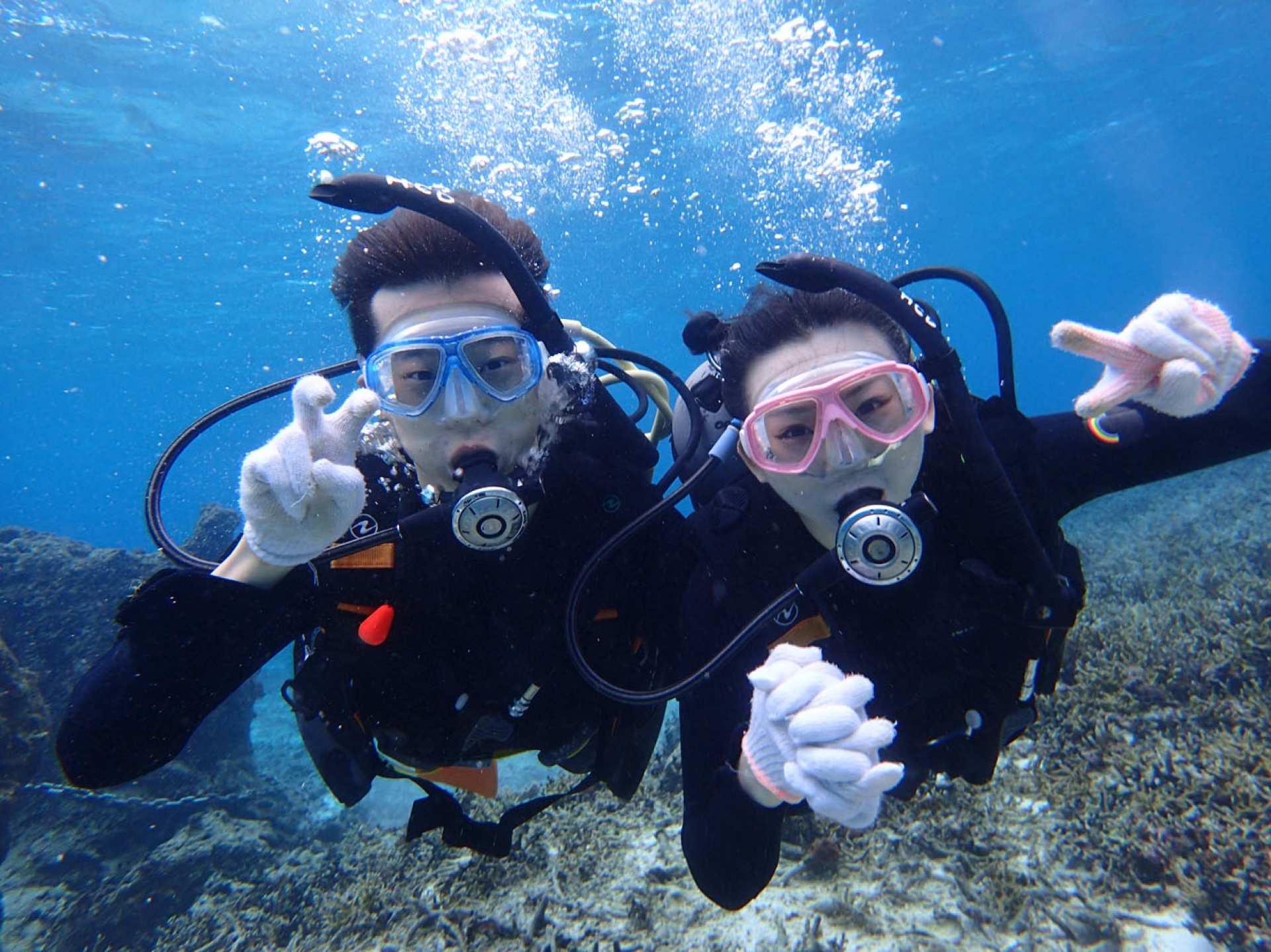【沖繩GET國際潛水證照】PADI開放水域潛水員三天課程