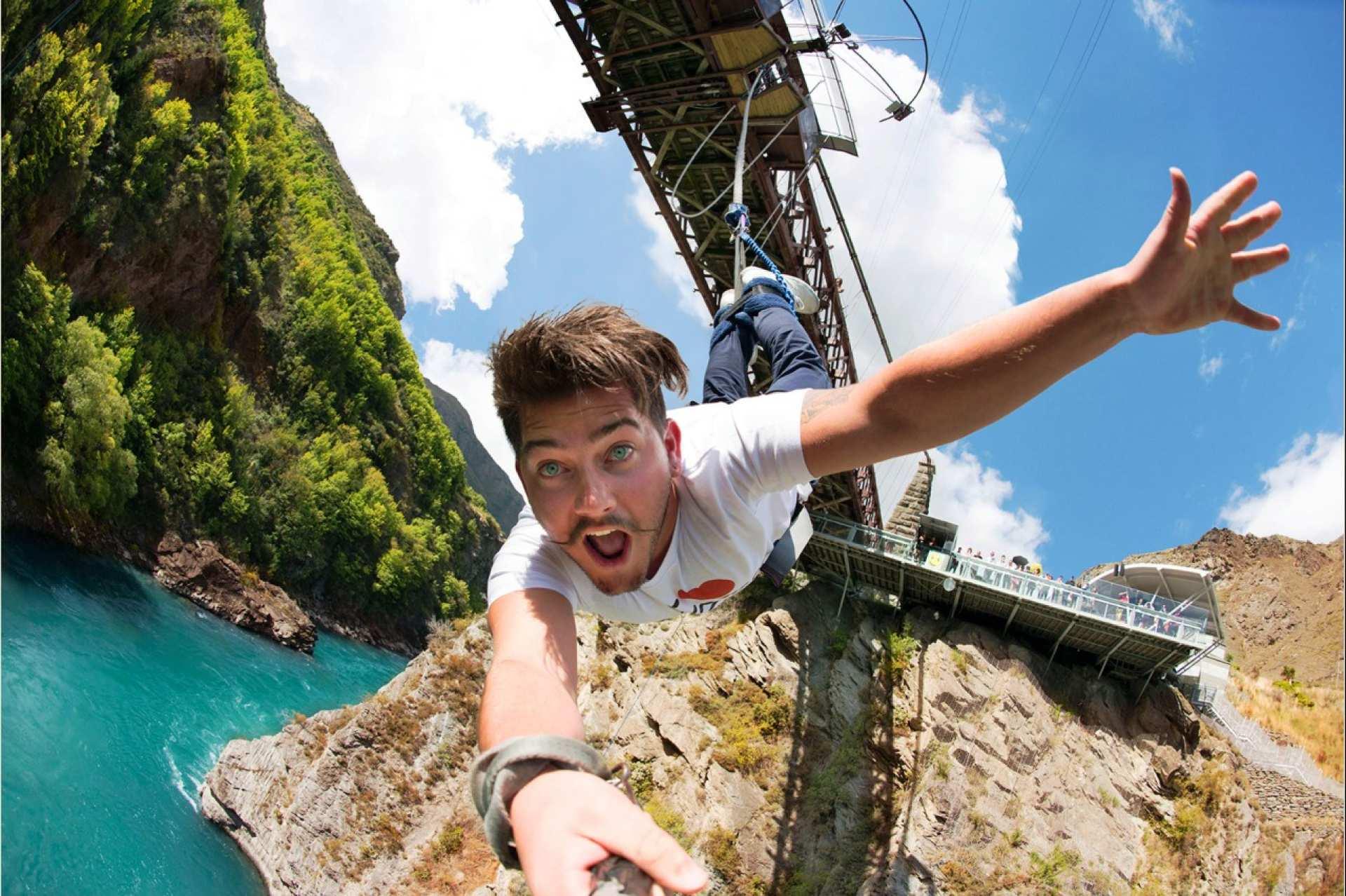 【紐西蘭南島極限挑戰】皇后鎮卡瓦勞大橋高空彈跳