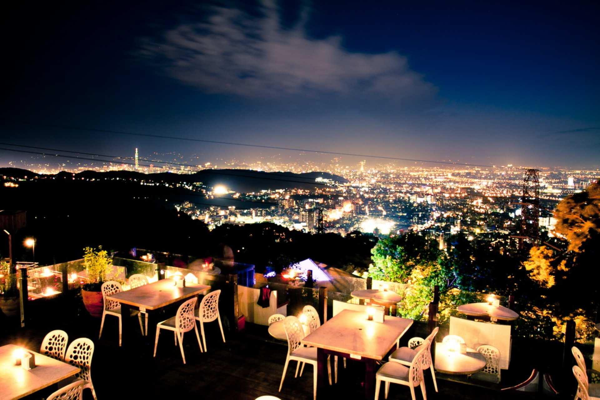 【台灣陽明山餐廳】草山夜未眠・夜景餐廳