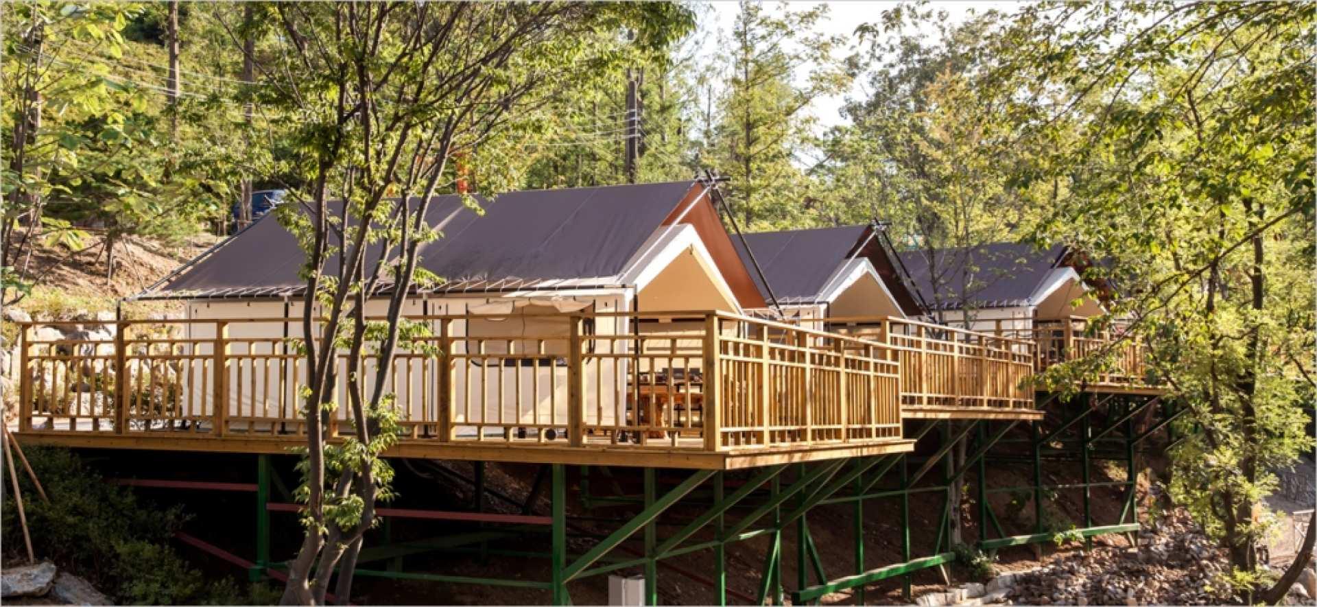 【坡州豪華露營兩日遊】Dongwha 露營度假屋、馬場湖水吊橋、普羅旺斯村、 AQUA PLANET 水族館