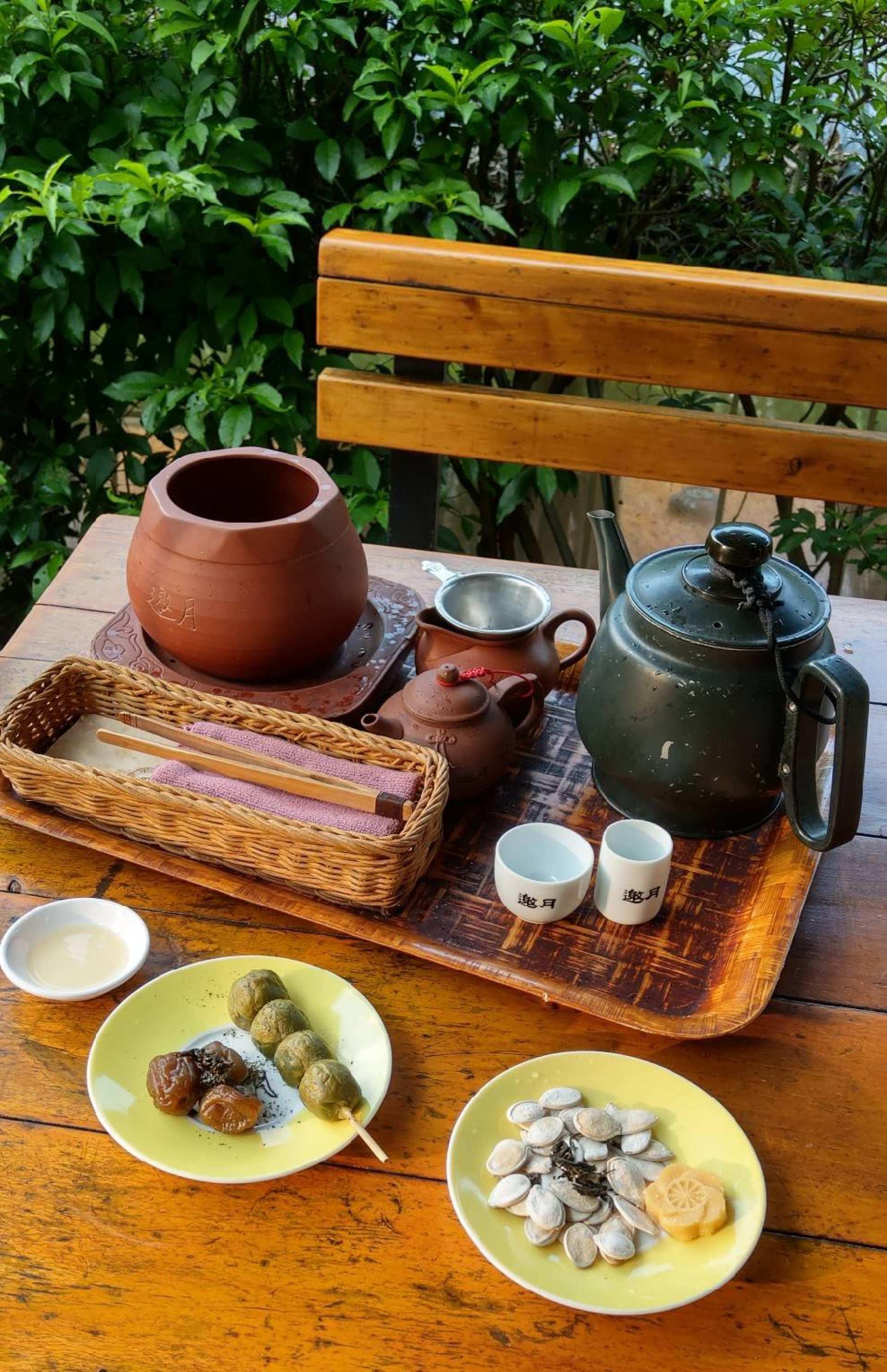 【貓空品茶趣】邀月茶坊24小時景觀泡茶套餐