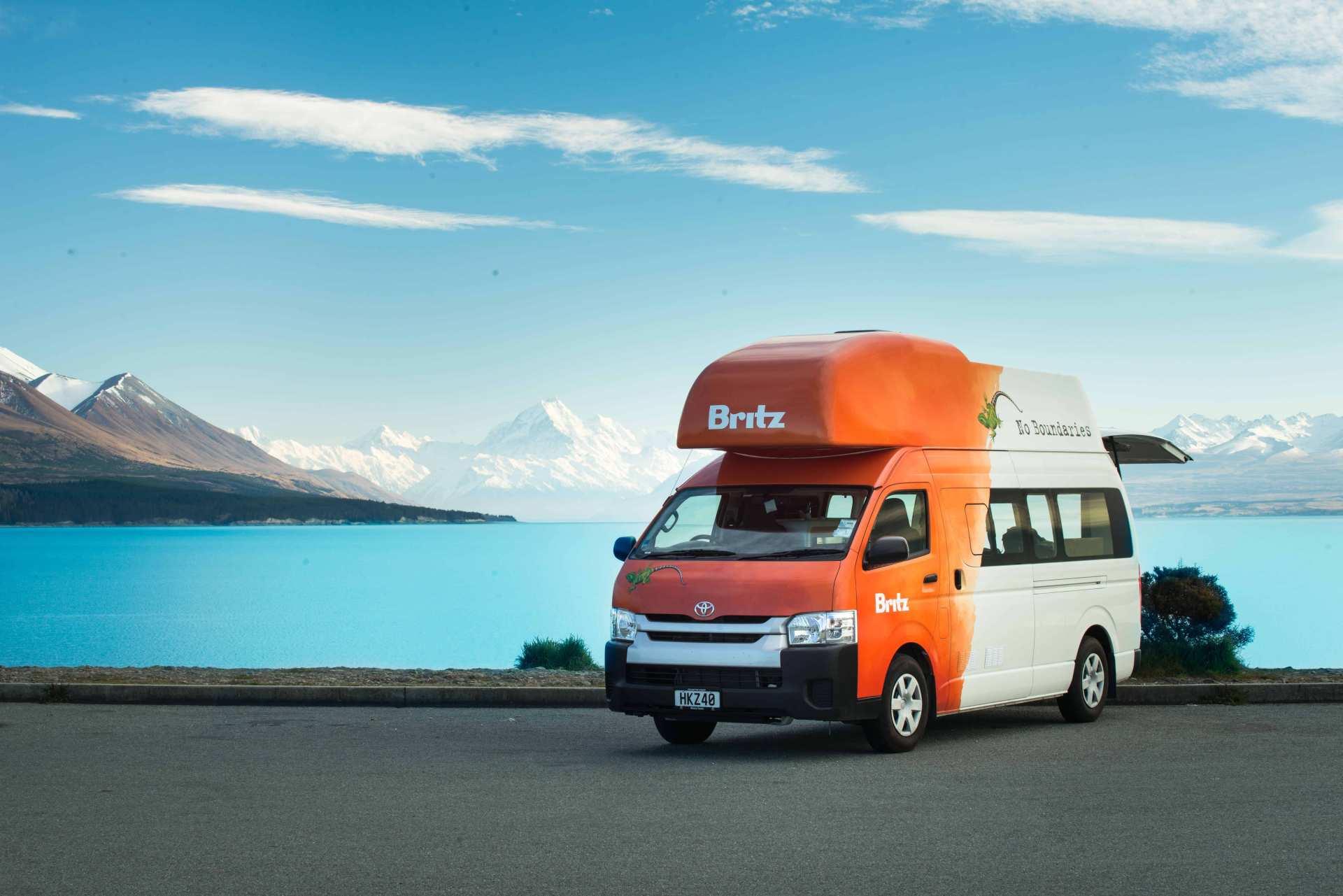 【紐西蘭租車】BRITZ 四人座航海家型露營車(基督城取 / 基督城還)