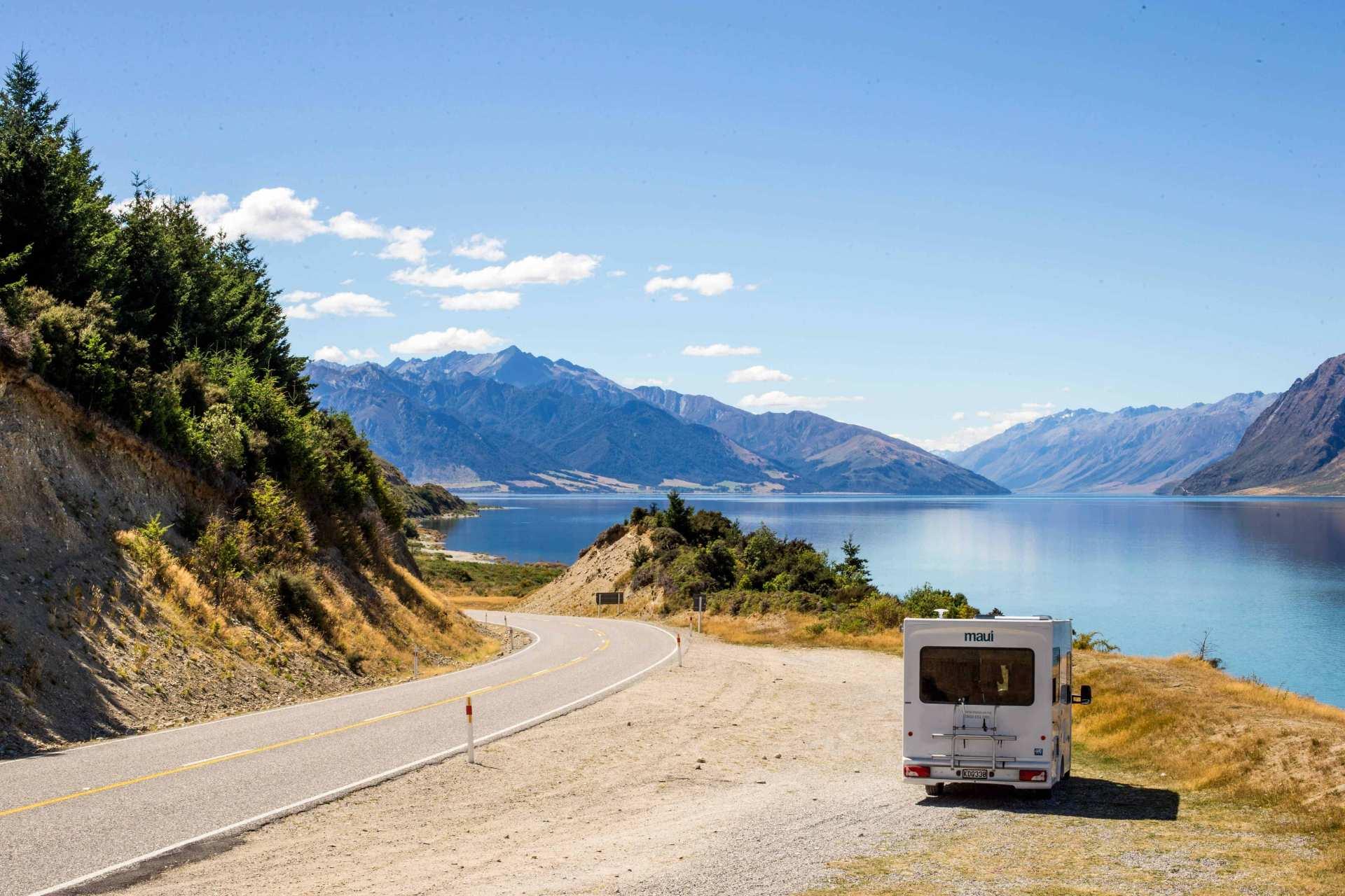 【紐西蘭租車】MAUI 四人座瀑布型露營車(皇后鎮取 / 基督城還)