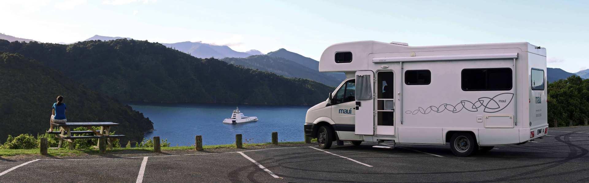 【紐西蘭租車】MAUI 六人座河畔型露營車(皇后鎮取 / 基督城還)