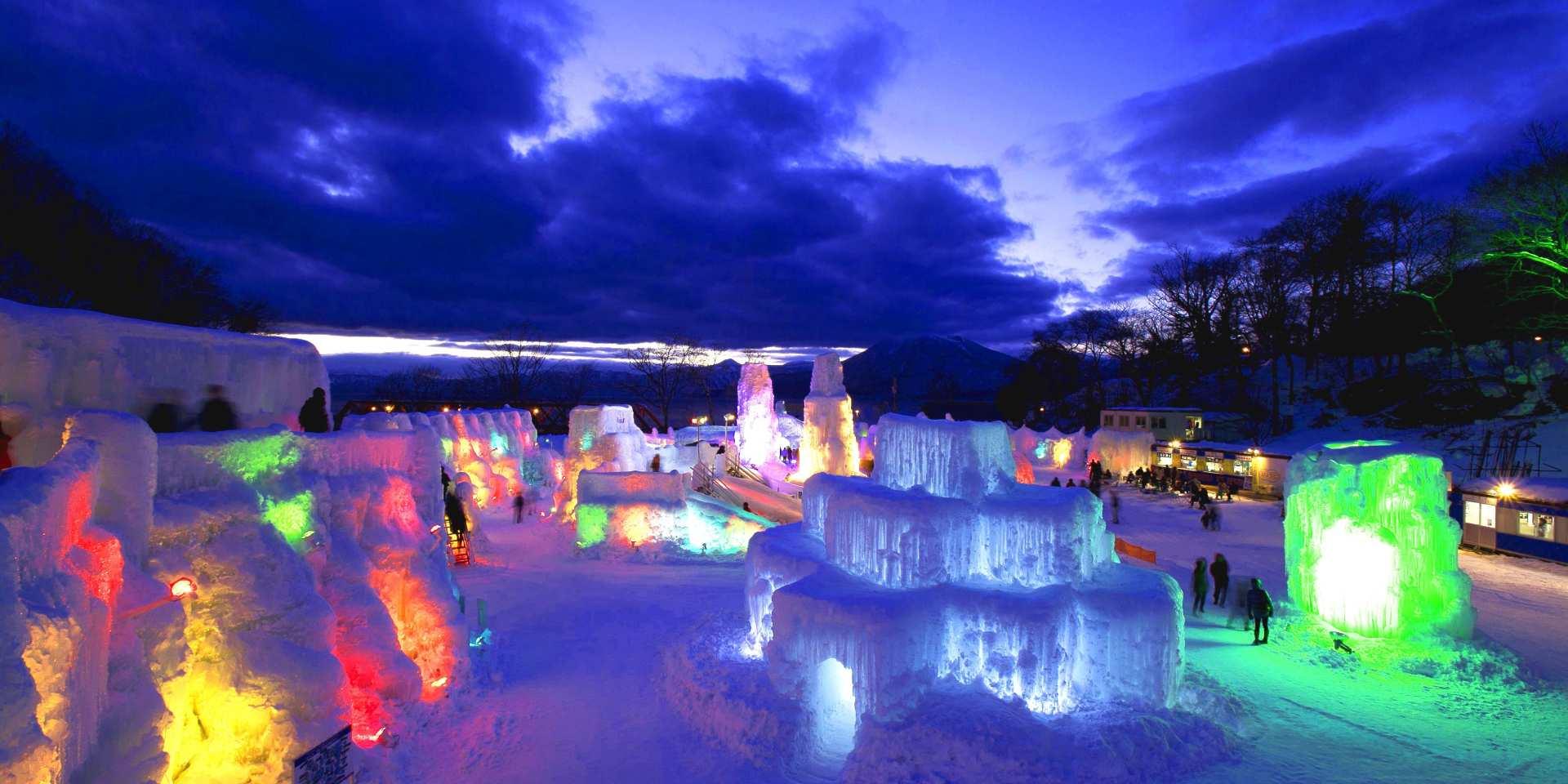 【札幌出発】支笏湖・氷濤(ひょうとう)まつり:1日バスツアー(午後出発)
