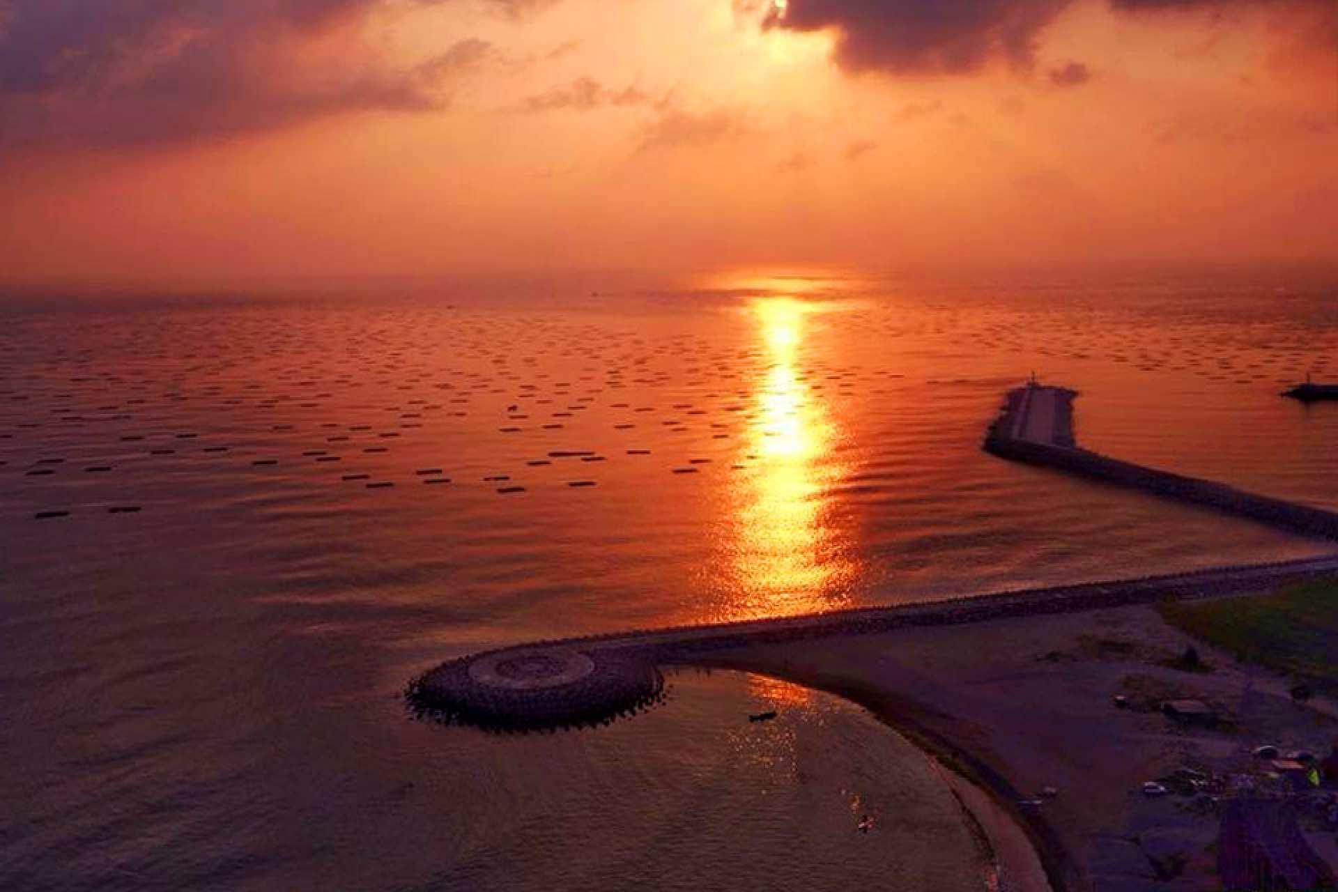 【台南必訪日落景點】漁光島|月牙灣夕陽接駁專車