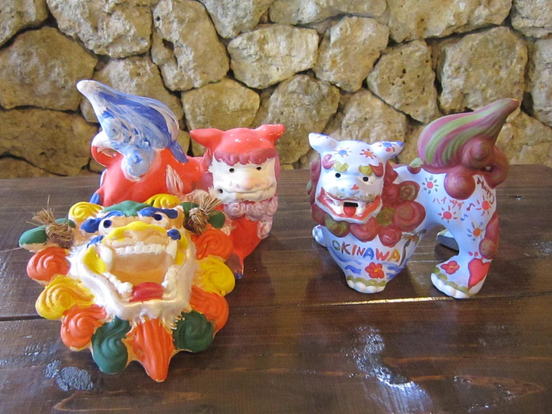 【沖繩特色體驗】沖繩文化王國傳統陶藝:素燒風獅爺著色
