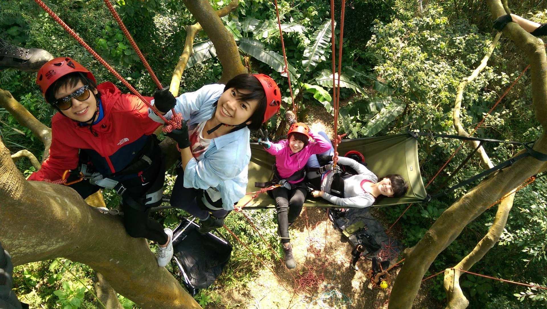 國家級教練團隊指導-親子攀樹體驗