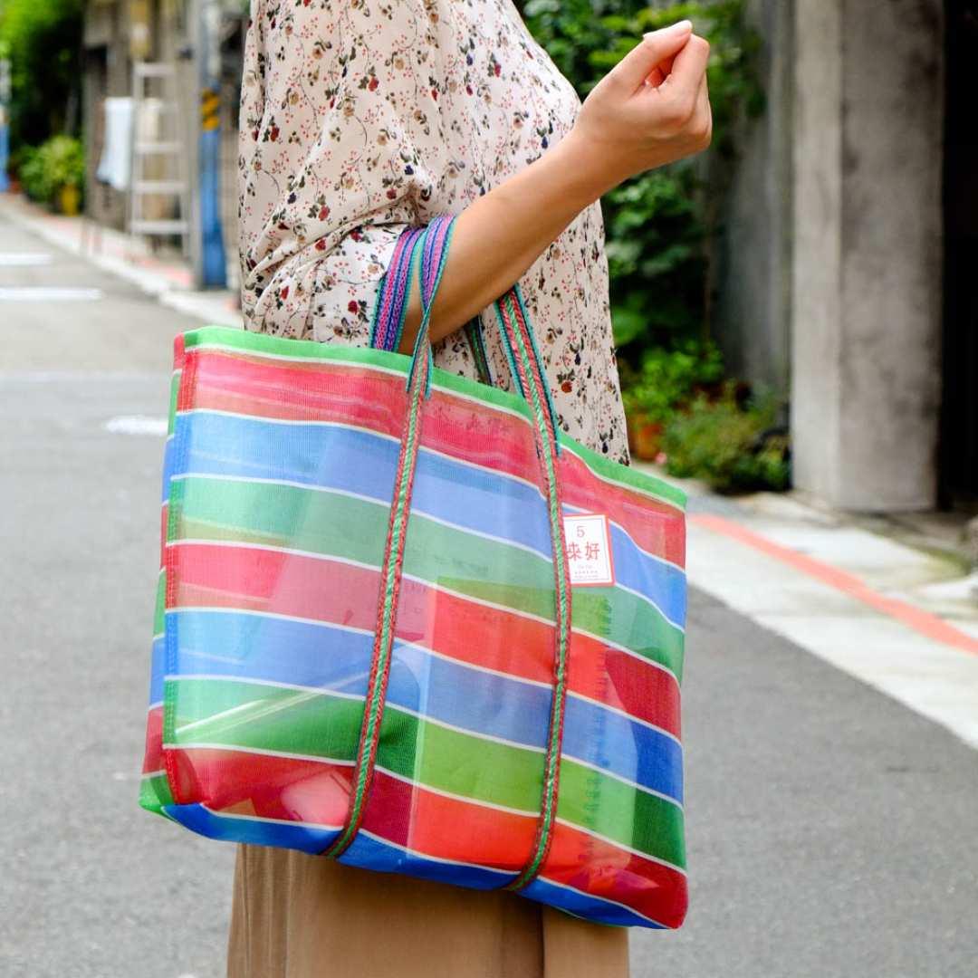 おうちで台湾 | 来好(ライハオ)漁師網ナイロンバッグ・エコバッグ|日本国内配送 | 送料無料