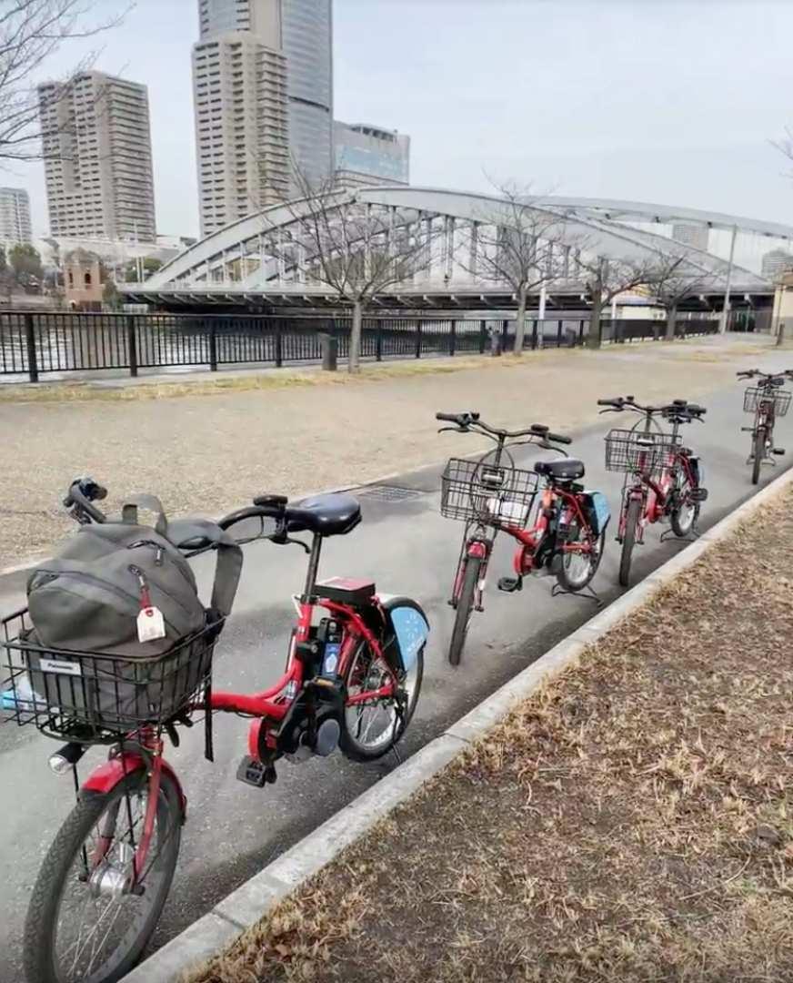 大阪サイクリングツアー|大阪城外周 / ローカル浴場+京橋散策コース