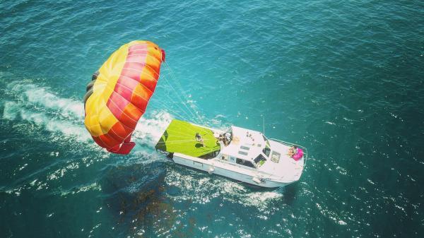 【【澎湖水上運動】澎湖海上拖曳傘飛行體驗