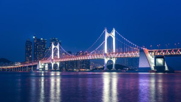 【【釜山人帶路看夜景】夜晚遠眺廣安大橋、釜山大橋、影島大橋