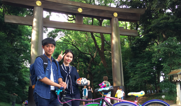 【【東京腳踏車租賃】騎乘色彩繽紛單車漫遊原宿街頭