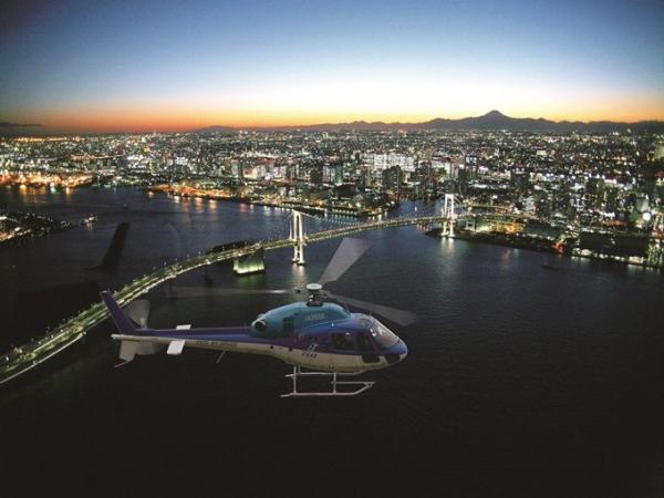 【【東京直升機體驗】搭乘直升機在高空中俯瞰東京