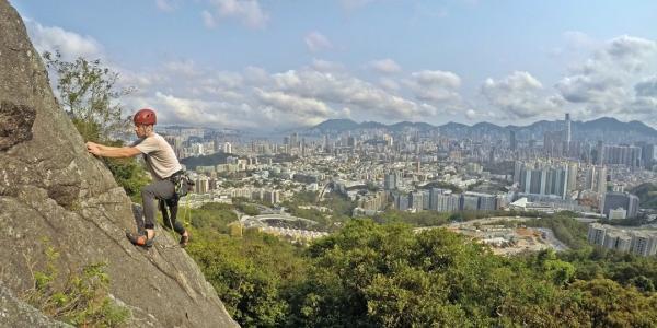 【【香港獨特體驗】香港Beacon Hill筆架山・攀岩體驗