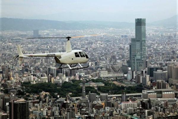 【【大阪直升機體驗】俯瞰大阪市中心遊覽飛行