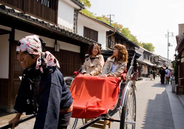 【【人力車體驗】倉敷白璧屋群、江戸風情的町屋、大原美術館