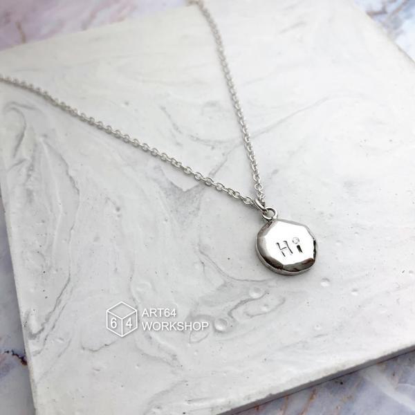 【【台灣六四設計銀飾手作】簡約小圓鑲鑽純銀項鍊一日銀匠體驗