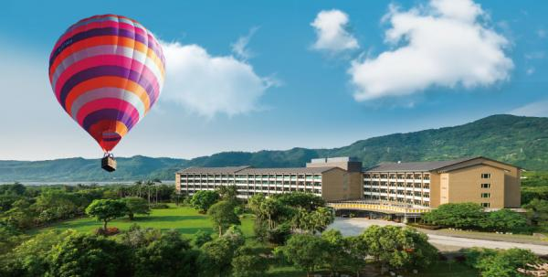 【【台東鹿鳴溫泉酒店】桃花林熱氣球繫留體驗+自助早餐