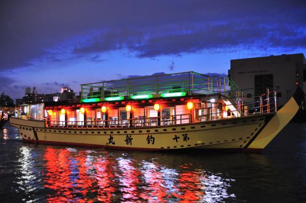 【【江戶時代富豪體驗】東京隅田川屋形船巡航(享用豪華餐點&無限暢飲)