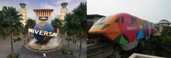 新加坡環球影城門票+聖淘沙單軌快車票