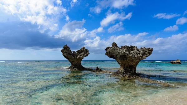 【【沖繩中北部】古宇利島、美麗海水族館、海中公園、美國村一日遊(含門票)