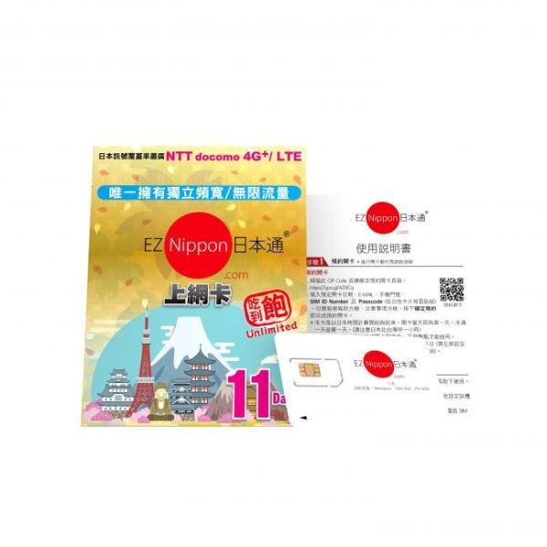 【【日本上網SIM卡】EZ Nippon日本通6天 \/ 11天網卡(台灣寄送)