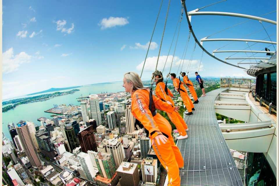 【紐西蘭極限體驗】奧克蘭天空塔高空彈跳或高空漫步