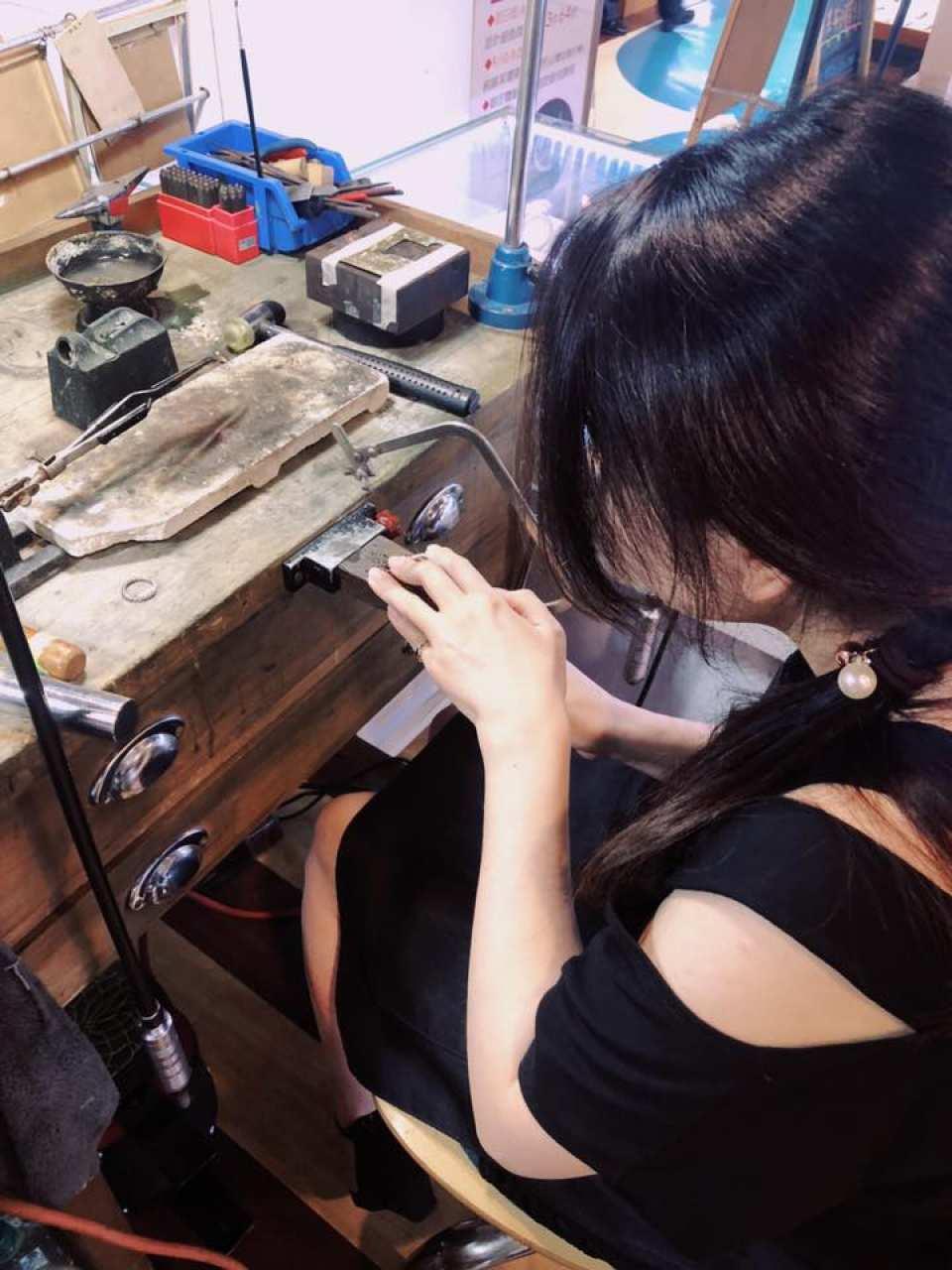 【台灣六四設計銀飾手作】秘語純銀手環4mm一日銀匠體驗