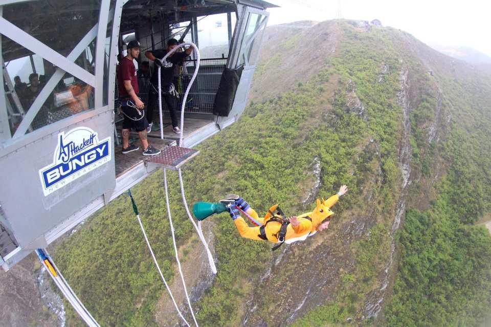 【134公尺!紐西蘭最高】Nevis Bungy 皇后鎮高空彈跳